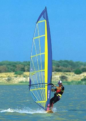 Windsurfing on the lakes